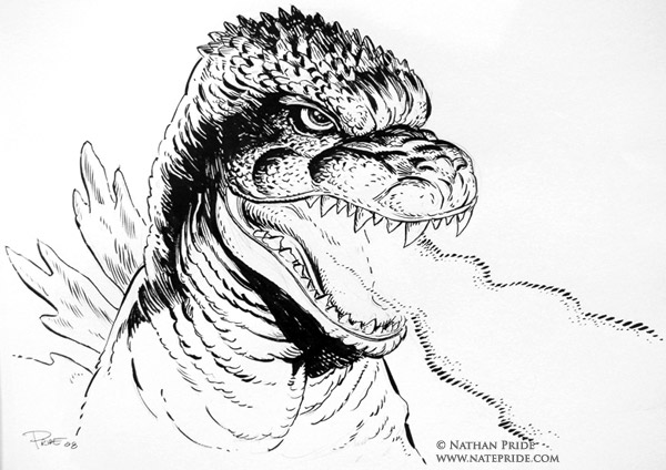 godzilla coloring page cake ideas and designs